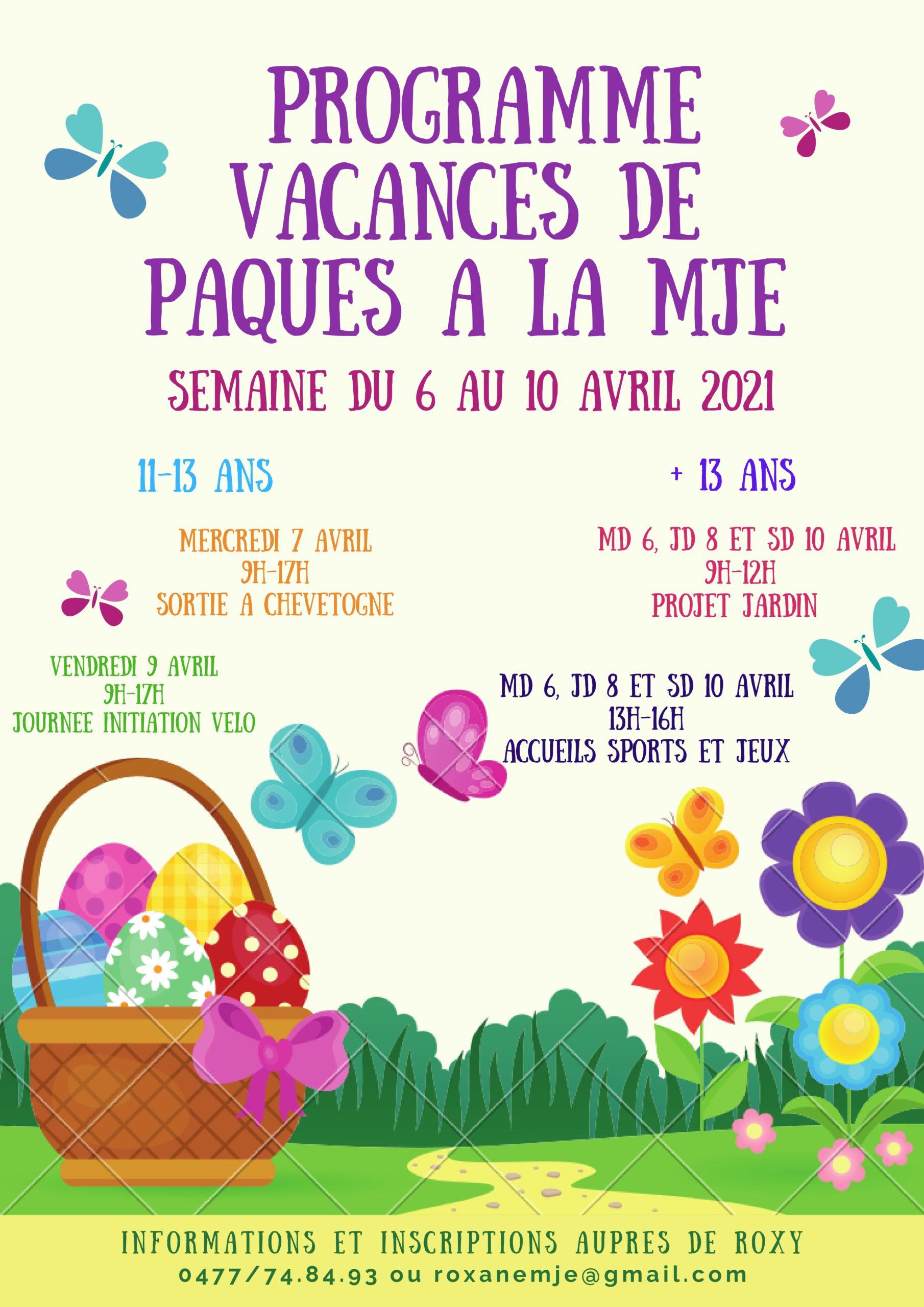 Programme de Pâques 2021