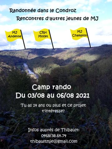 Camp rando: «La croisée des chemins»
